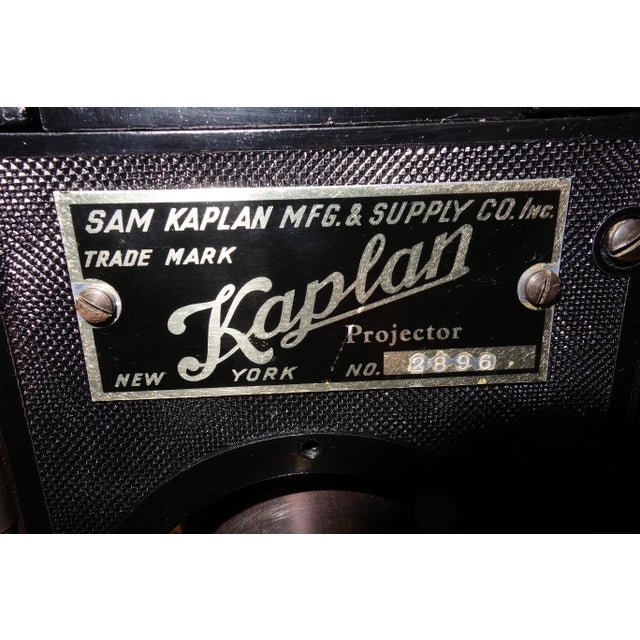Metal Kaplan 35mm Cinema Movie Projector Head, Circa 1930 Fully Restored and Gorgeous. For Sale - Image 7 of 12