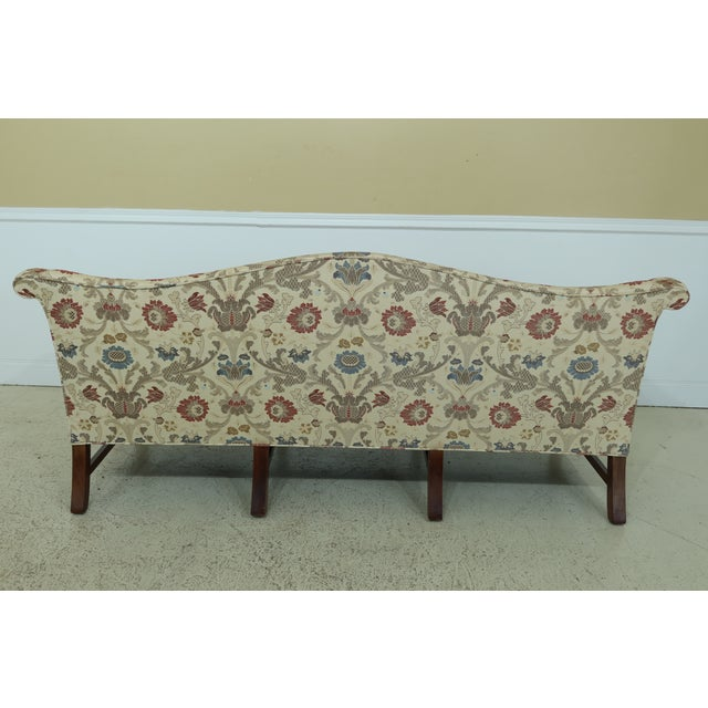 Brown Chippendale Style Quality 8 Legged Mahogany Camelback Sofa For Sale - Image 8 of 10