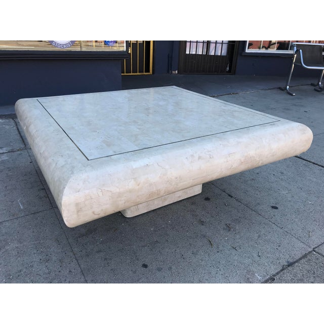1980s Art Deco Maitland-Smith Tesselated Stone Coffee Table For Sale - Image 10 of 10