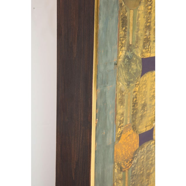 """Simrel Achenbach """"You Are"""" Gouache Painting on Wood, Circa 1993 For Sale In New York - Image 6 of 10"""