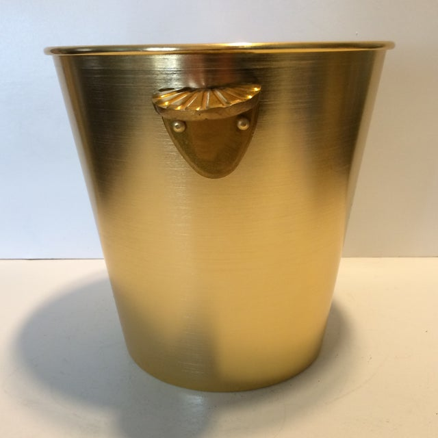 Gloria Ferrer Gold Anodized Aluminum Champagne Bucket For Sale - Image 4 of 11