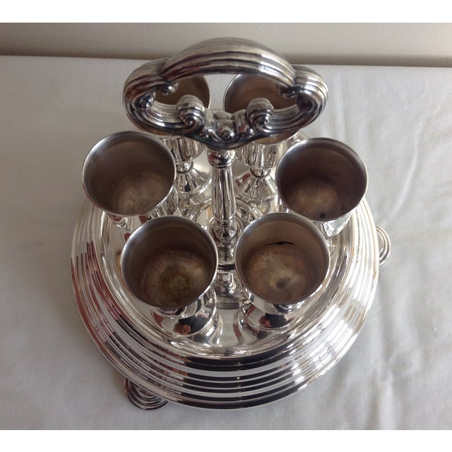 Taunton Silver Cordials & Caddy Holder For Sale In West Palm - Image 6 of 10