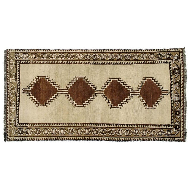 """Vintage Persian Gabbeh Rug - 3'5"""" X 6'7"""" For Sale"""