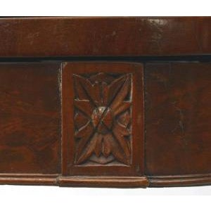 Mid 19th Century American Federal Style (19th Cent) Mahogany Flip Top Console/Card Table With Lyre Base For Sale - Image 5 of 8