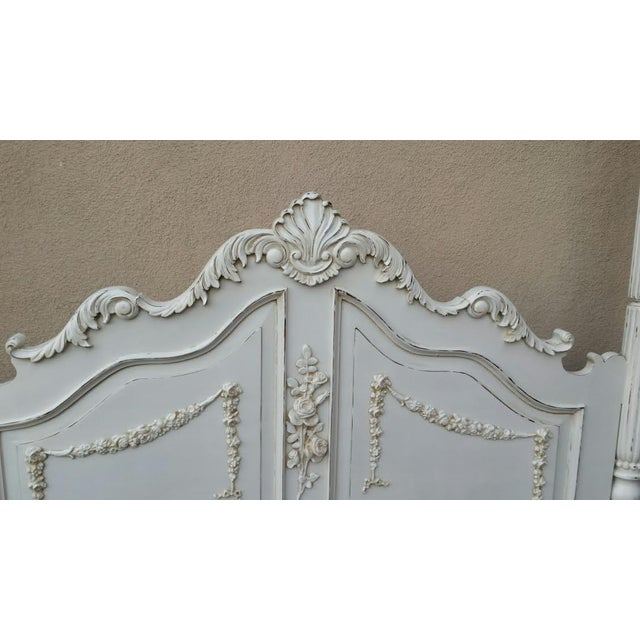French Country Chic Four Poster Queen Bed - Image 3 of 11