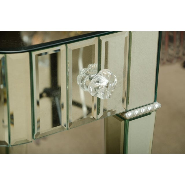 Art Deco Spectacular Mirrored 3-Drawer Vanity/Desk For Sale - Image 3 of 9