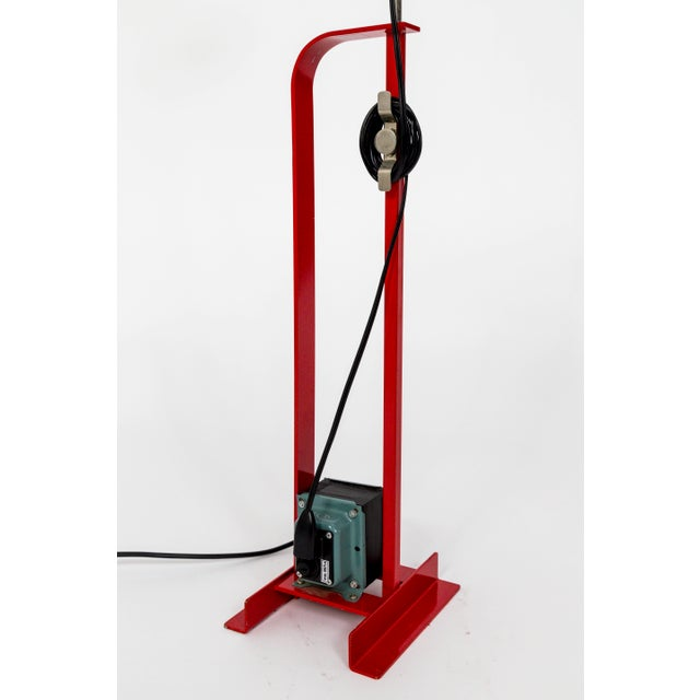 Industrial Castiglioni Toio Industrial Red Floor Lamp by Flos For Sale - Image 3 of 12