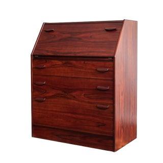 1970s Danish Modern Rosewood Secretary Desk For Sale