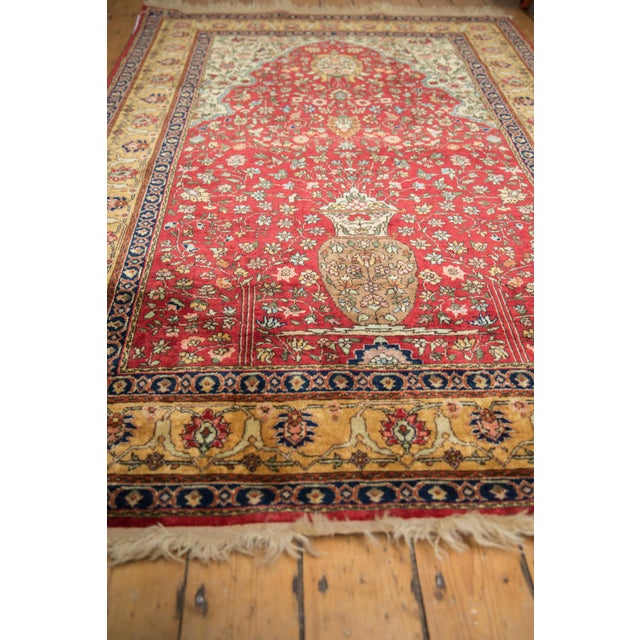 "1970s Vintage Romanian Hereke Design Rug - 4'10"" X 7'6"" For Sale - Image 5 of 10"