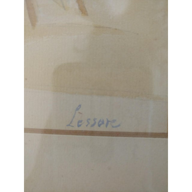 1920 French Nude Beach by Thérèse Lessore Paintings - a Pair For Sale - Image 12 of 13