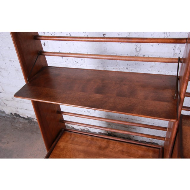 Brown Leslie Diamond for Conant Ball Norsemates Room Divider or Wall Unit, 1950s For Sale - Image 8 of 13