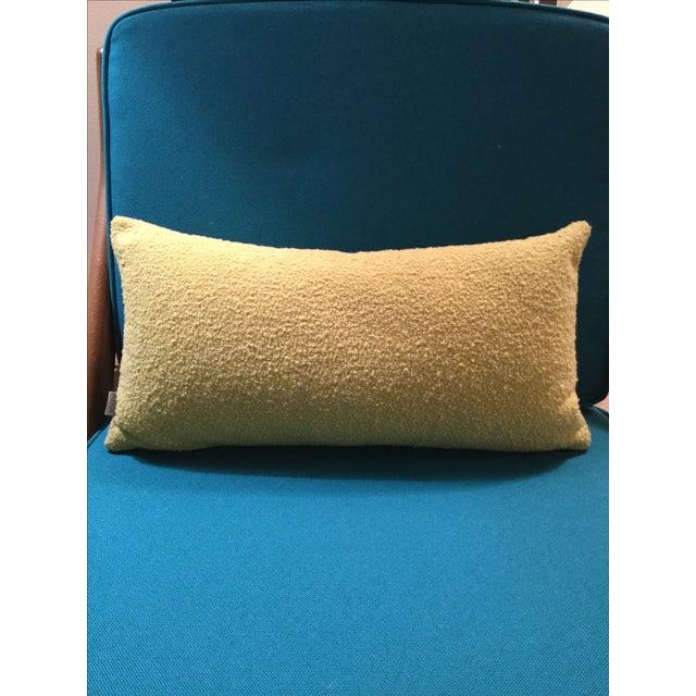Mid Century Modern Chartreuse Knoll Lumbar Pillow - Image 3 of 5