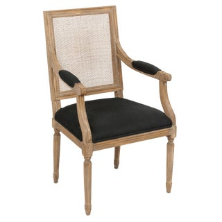 Louis XVI Style Alpaca Wool Upholstered Dining Chair