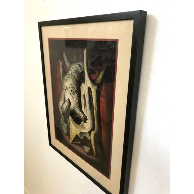 Vibrant original print by Clyde F. Seavey entitled 'Driftwood Invention #2' Prfesionally framed and matted with archival...