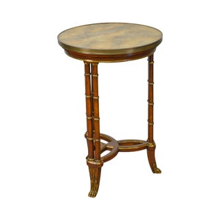 John Widdicomb Regency Style Partial Gilt Round Side Table