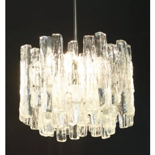 1960s Large Murano Ice Glass Chandelier by Kalmar, Austria, 1960s Preview