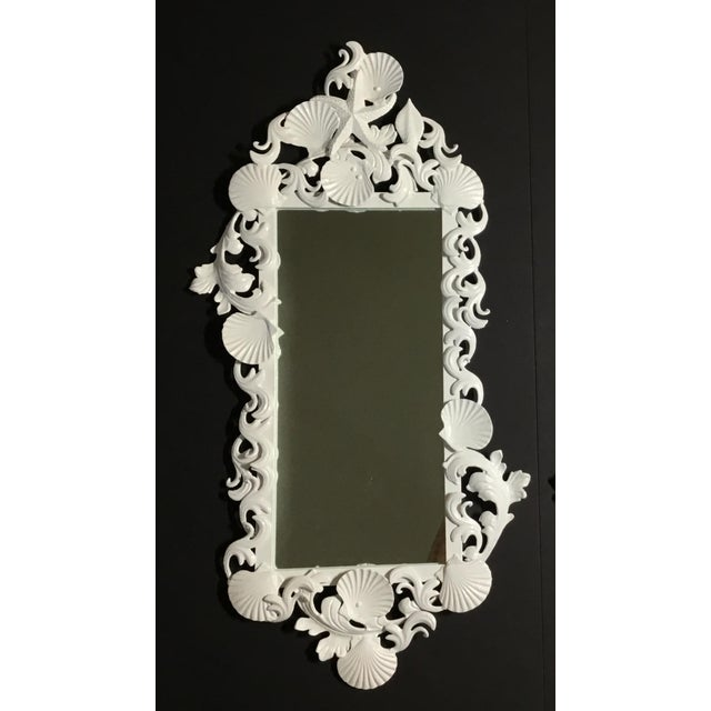 White White Sea Shell Mirror For Sale - Image 8 of 10