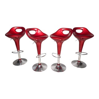 Retro Style Bar Stools - Set of 4 For Sale