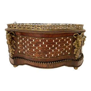 Mother of Pearl Inlay Tahan French Planter For Sale