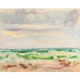 Image of Mogens Valeur, 'Ocean Breakers at Sunset', Post-Impressionist Seascape, 1963 For Sale