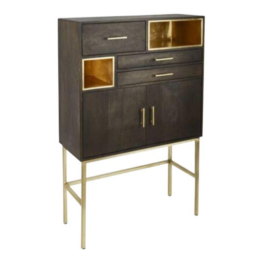 Kennith Ludwig Chicago Modern Bar Cabinet For Sale