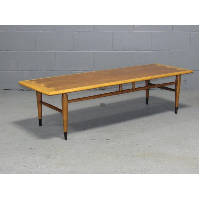 Oak Acclaim Series Coffee Table by Andre Bus for Lane For Sale - Image 7 of 7