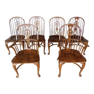 Drexel Heritage Oak Windsor Style Chairs - Set of 6