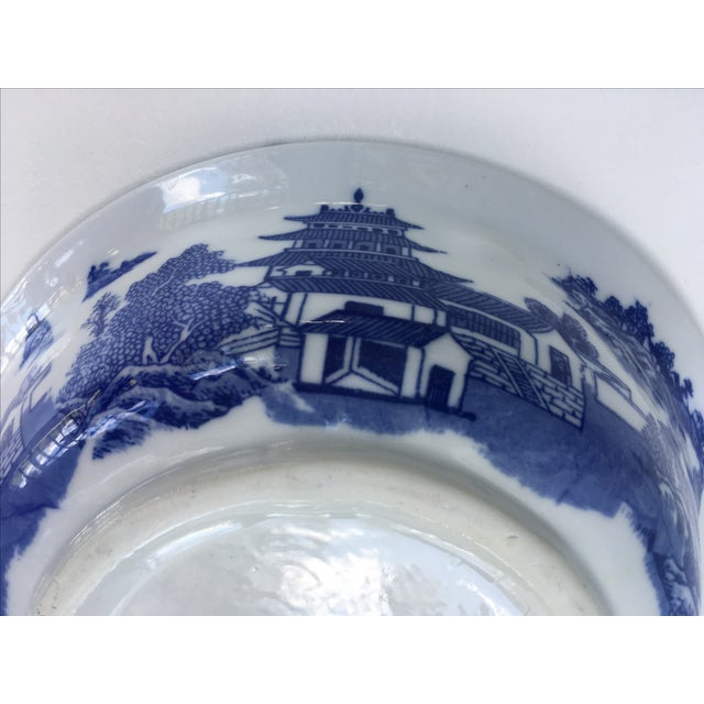 Victoria Ware Ironstone Blue Willow Serving Bowl For Sale - Image 5 of 7