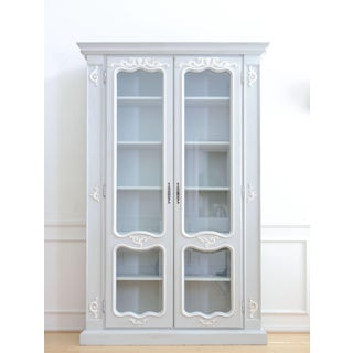 Italian Linen Armoire China Cabinet / Bookshelf Preview