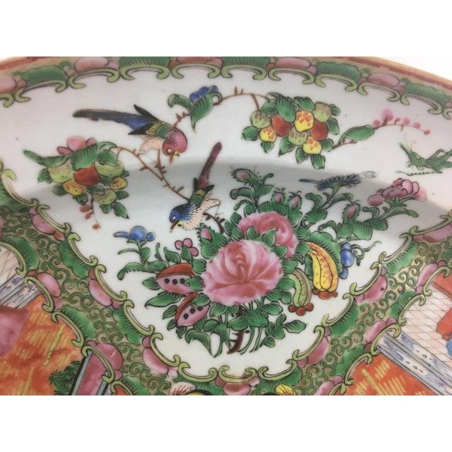Ceramic Large 19th Century Rose Medallion Platter For Sale - Image 7 of 10
