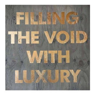 "Contemporary Acrylic on Reclaimed Wood Collage ""Filling the Void"" by William Finlayson For Sale"