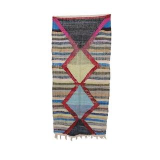 "Kilim Boucherouite Moroccan Kilim, 4'1"" X 8'6"" Feet"
