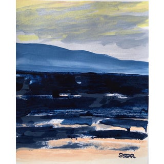 "Contemporary Landscape ""Ocean Color Study Iii"" Painting by Angela Seear, Small For Sale"
