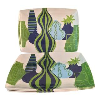 Jonathan Adler Mod Malamine Plates - Set of 4 For Sale