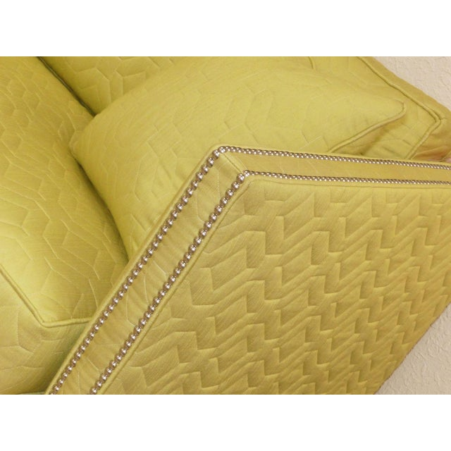 Cotton Wesley Hall Contemporary Blake Sofa With Nailhead Trim For Sale - Image 7 of 11