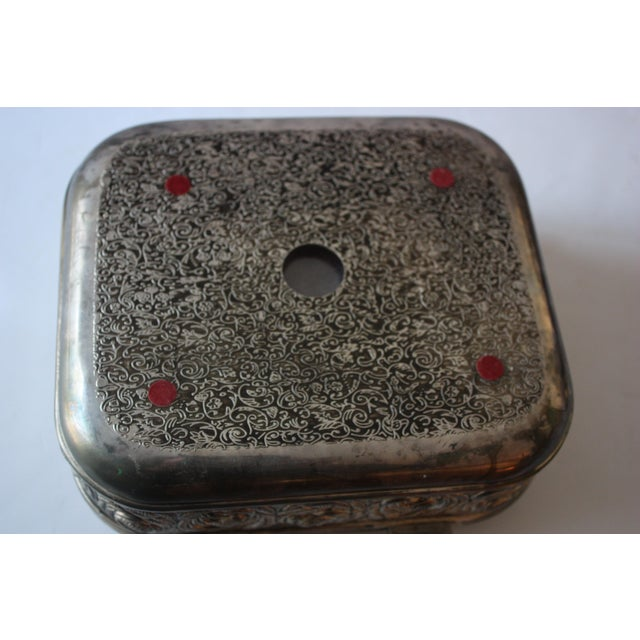 Vintage Silverplate Jewelry Box - Image 4 of 4