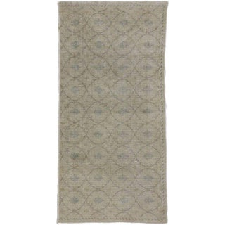 Turkish Distressed Sivas Accent Rug With Shabby Chic Muted Colors - 2'6 X 5'1 For Sale