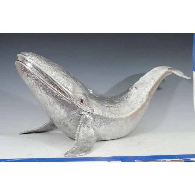 Aluminum Monumental Arthur Court Whale Champagne / Wine Cooler For Sale - Image 7 of 9