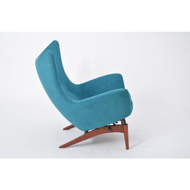 Reupholstered Model 207 Reclining Lounge Chair Designed by h.w. Klein For Sale - Image 9 of 12
