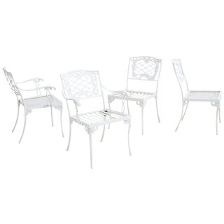 Brown Jordan Florentine Aluminium Garden Chairs - Set of 4 For Sale