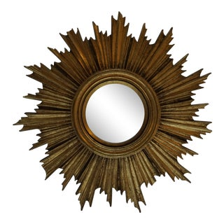 Mid-Century French Sunburst Mirror