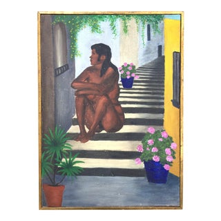1970s Vintage Nude Portrait of Mexican Woman For Sale