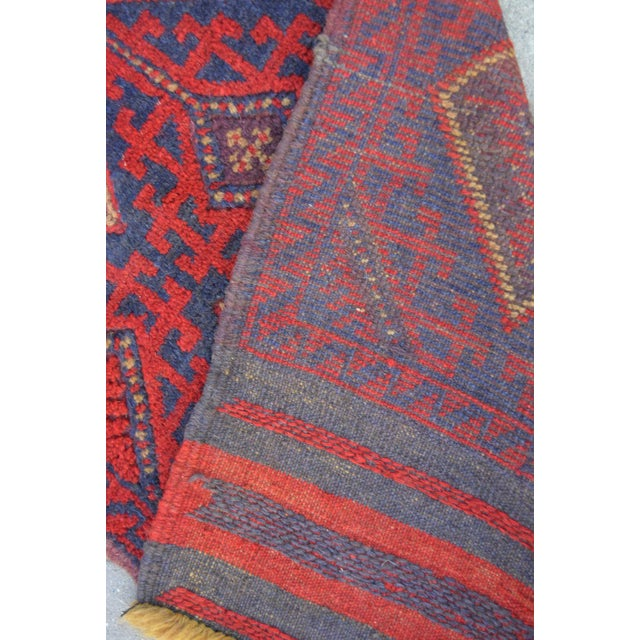 "Vintage Tribal Turkish Kilim Runner - 2' x 8'2"" For Sale - Image 5 of 6"
