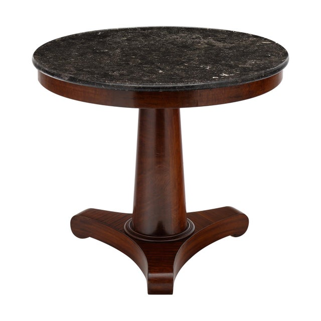 Gray Marble Topped Empire Style Gueridon For Sale - Image 10 of 10