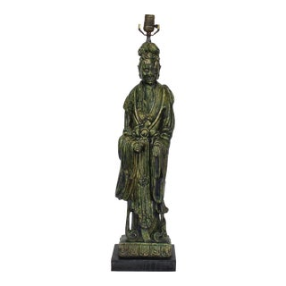 Vintage Guanyin Buddha Table Lamp For Sale