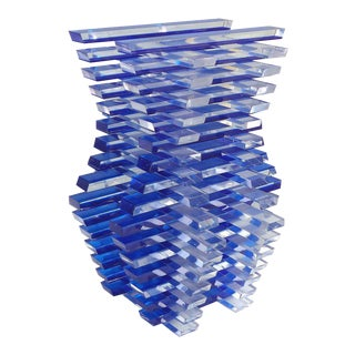 Custom-Made Lucite Optical Geometric Sculpture For Sale