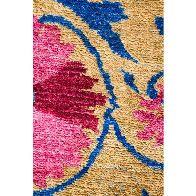 "Modern Suzani, Hand Knotted Area Rug - 4' 2"" X 6' 5"" For Sale - Image 3 of 4"