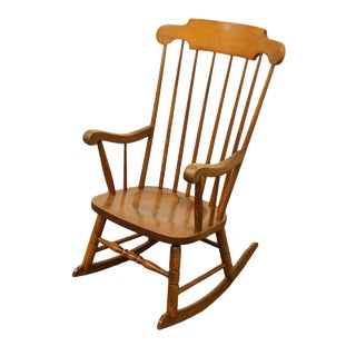 Tell City Colonial Solid Maple W. Andover Finish Rocking Chair For Sale