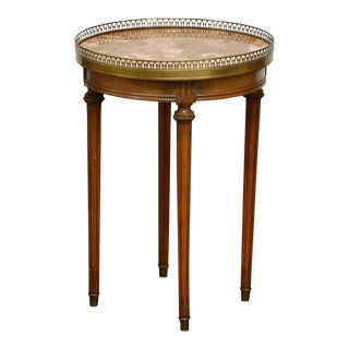 Louis XVI Style Marble Top Gueridon Drinks Table