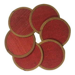 Rug & Relic Kilim Coasters Set of 6 | Zeki